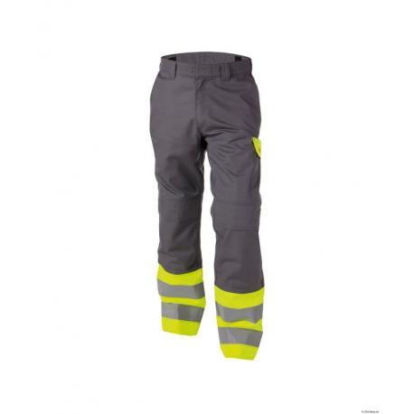 Lenox Pantalon multinorm haute visibilité bicolore avec poches genoux